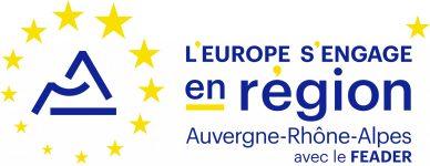 Le logo « L'Europe s'engage en Région Auvergne-Rhône-Alpes avec le FEADER »